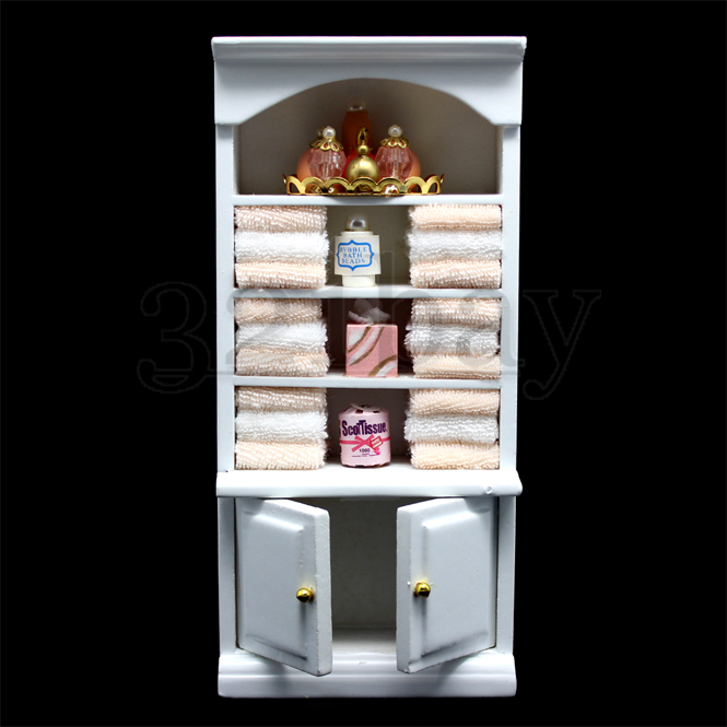 1 12 puppenhaus badezimmer puppenhausm bel m bel bad zubeh r wei holz miniatur ebay. Black Bedroom Furniture Sets. Home Design Ideas