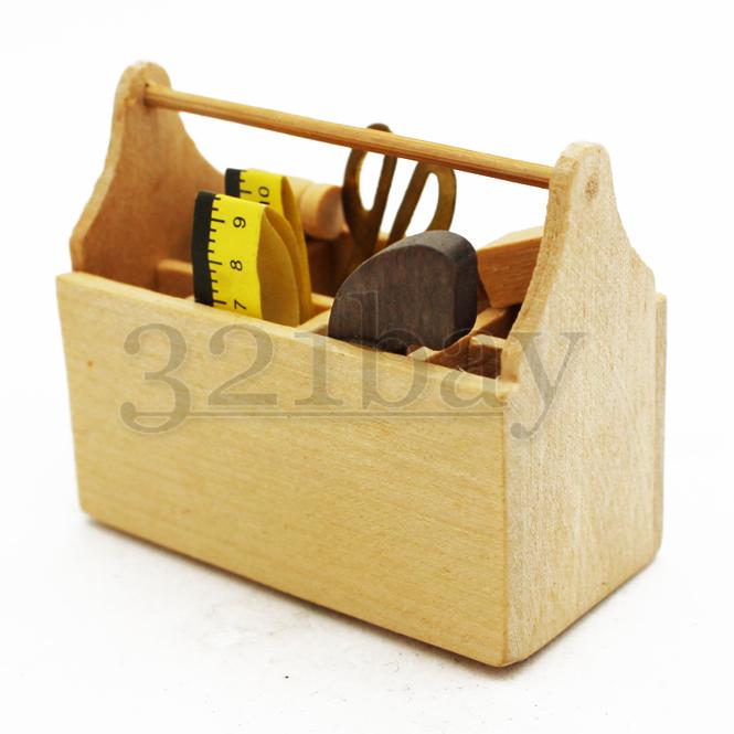 puppenhaus werkzeugkasten werkzeug 1 6 1zu6 holz mini. Black Bedroom Furniture Sets. Home Design Ideas