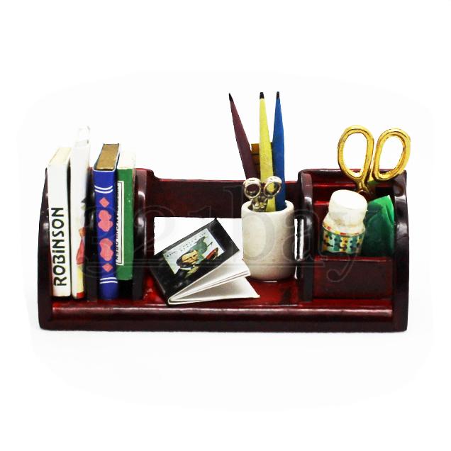 1to12 wooden miniature office desk accessories scissors pen