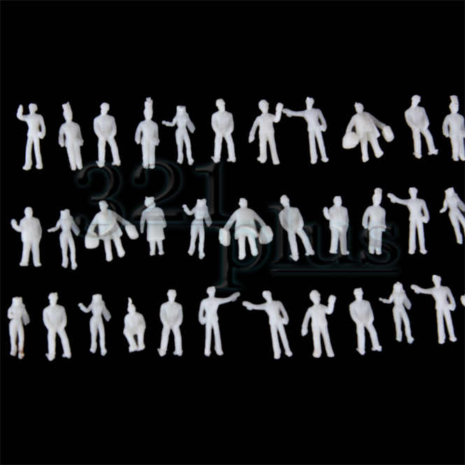 Details about 100 pcs 7mm Figures ZZ Scale Gauge Small Figures standing  sitting People 1:300