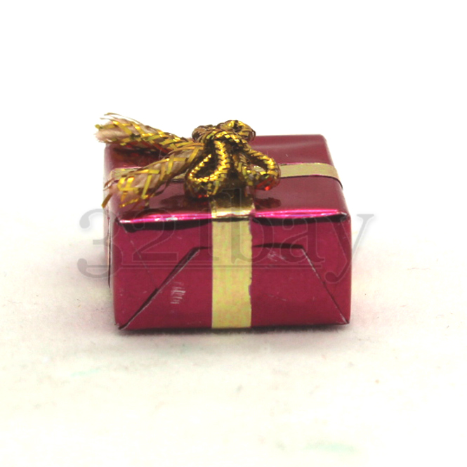 Set 3 Glittery Wrapped Christmas Present Gift Dollhouse Miniatures by Beth 1 in