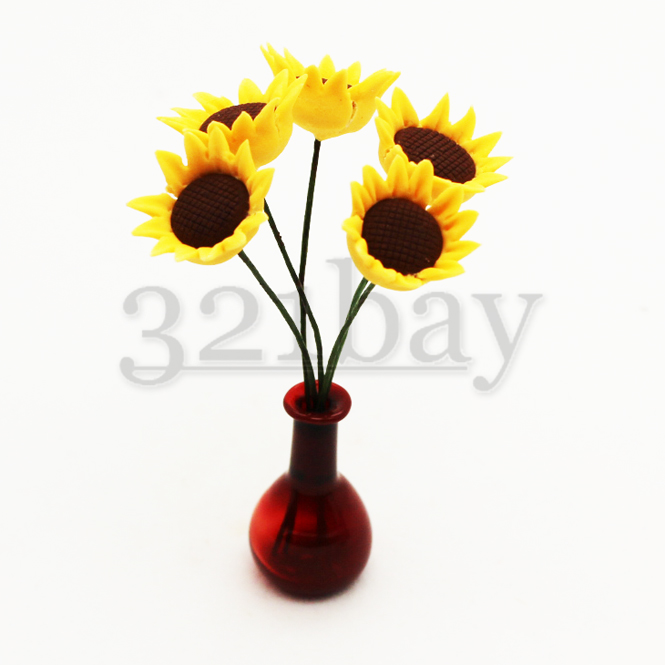 1:12 scale dollhouse decoration Handmade Sunflower Flower vine