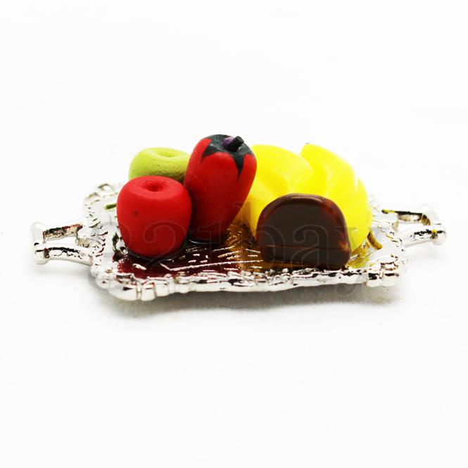 Deko pfel deko bananen miniatur servierplatte miniatur for Deko essen