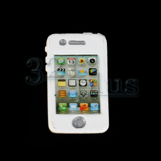 Dolls House Mobile Cell Phone in White Miniature Modern 1:12 Scale Accessory