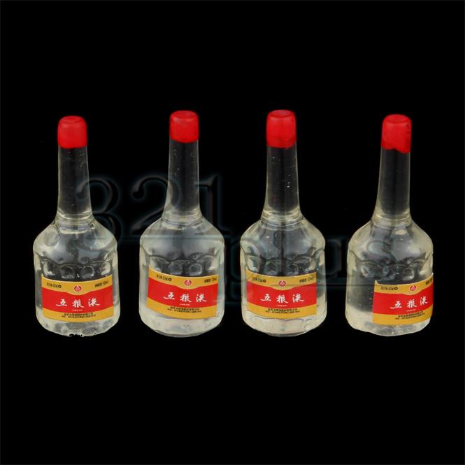 4 Stk. Miniatur Flaschen Masstab Puppenhaus Alkohol Schnapps ...