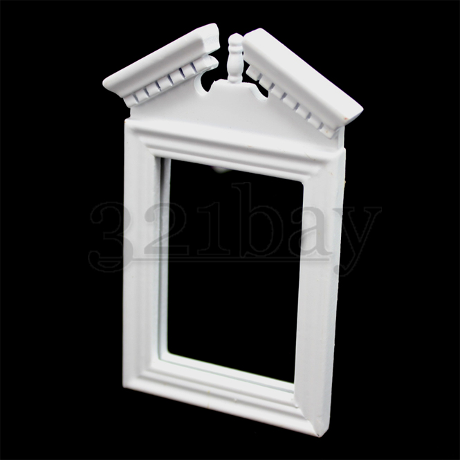Dollhouse Mirror 1//12th Scale Wooden Dollhouse Accessories Wooden White 1:12