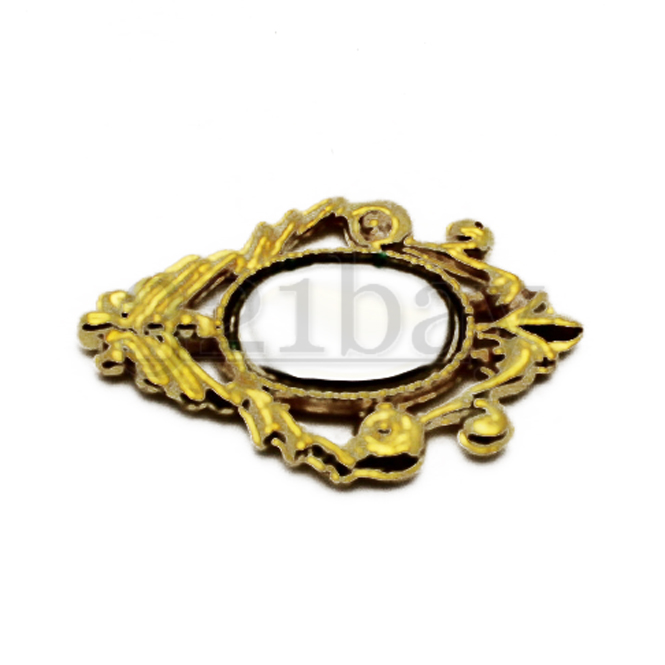 1:12 Maßstab Einzel Gold Farbe Metall Bell Dekoration Tumdee Puppenhaus Zubehör