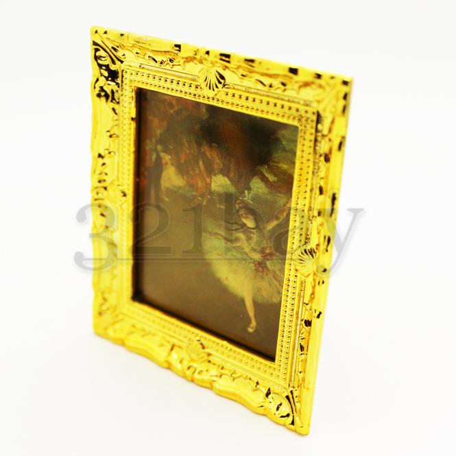 Miniatur Bilderrahmen Maßstab 1 zu 12 Wandgemälde Gemälde Rahmen Puppenstube