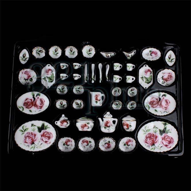 Miniatur Essgeschirr Set Puppen Porzellan Geschirr Küchengeschirr ...