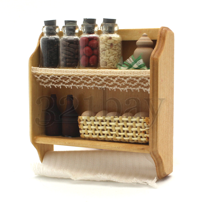 dollhouse kitchen accessories dollhouse shelf with miniature spice jars miniature food 3420