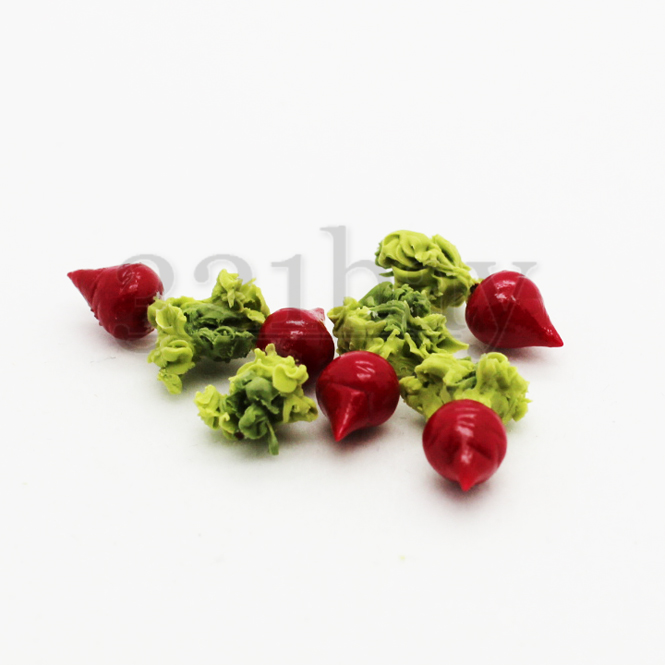 5pcs 1//12 Dollhouse Miniature Food Vegetable Kitchen Radish Play House Food LETB