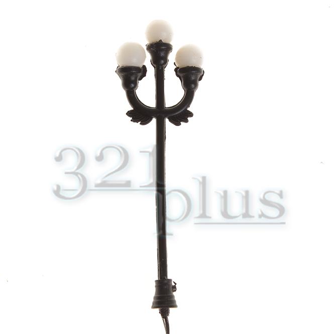Dreiflammige Modellbau Laternen Zubehör 1:87 Led DC Leuchten Beleuchtung 10 Stk