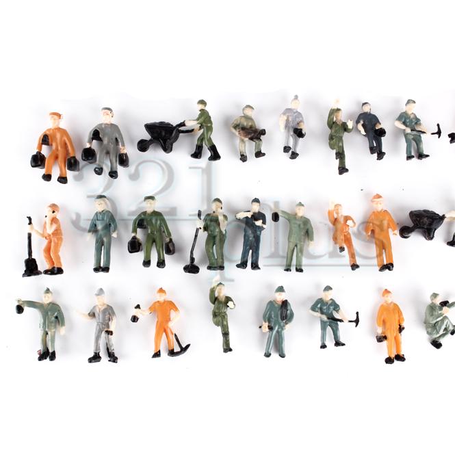 Details about 100 pcs HO Scale Figures People Worker Figures Construction  Site Supplies 1:87