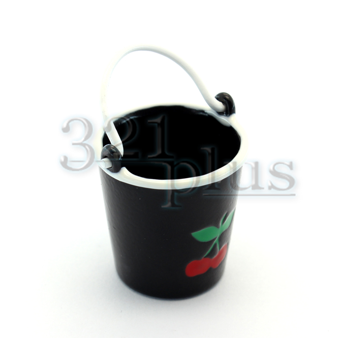 1:12 Scale Medium Metal Bucket Pail Dolls House Miniature Garden Accessory SA