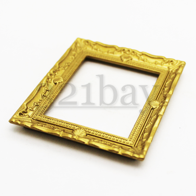 1to12 Golden Dollhouse Painting Frame Art Living Room Decor Picture Frame 12th