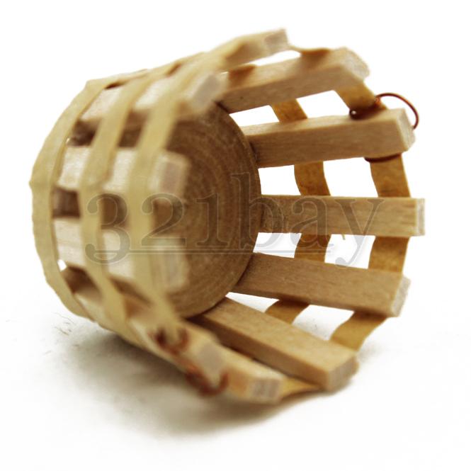 miniatur korb puppenhauszubeh r holz garten zubeh r miniatur garten mini korb ebay. Black Bedroom Furniture Sets. Home Design Ideas