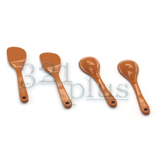 Miniature Dollhouse Cooking Utensils Kitchen Spatula Spoons Tools Wood  Kit 1:12