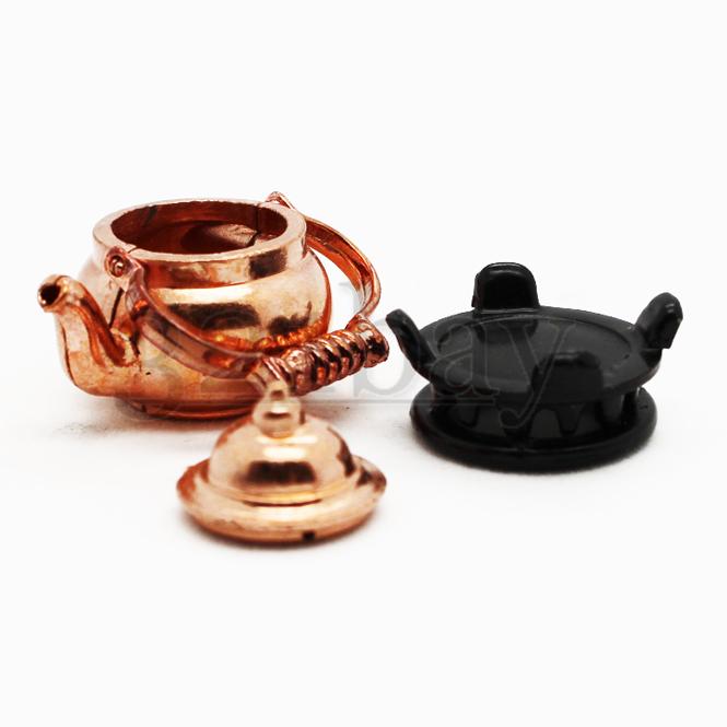Kitchen Tea Accessories: Miniature Copper Kettle Miniature Kitchenware Miniature