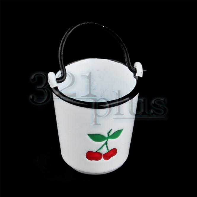 12th Scale Miniatures Mini Galvanized Buckets Miniature Buckets Bathroom Supply