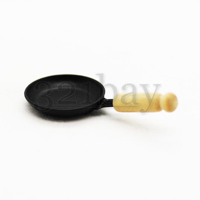 Puppen Kochgeschirr Mini Wok Pfanne Miniatur Dekoration Küche Maßstab 1:12 Deko