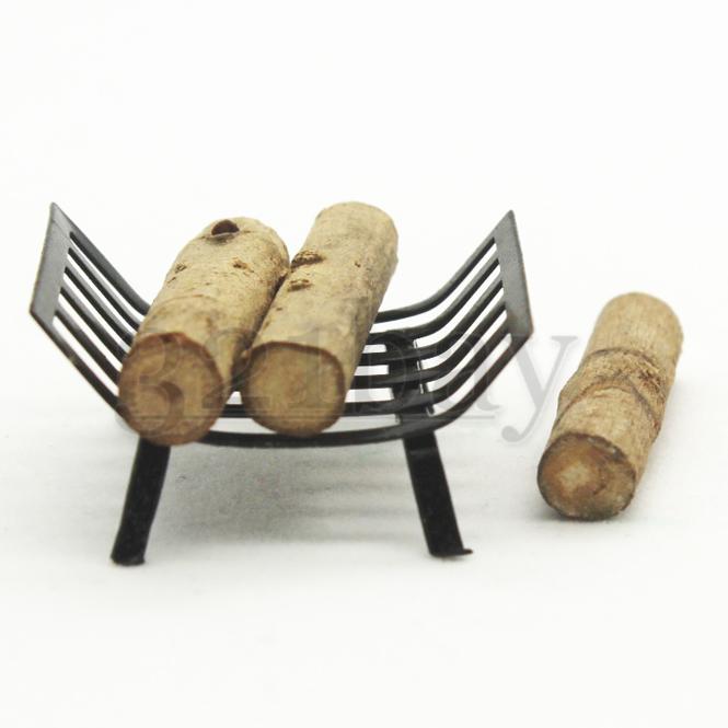puppenhaus wohnzimmer kamin kaminholz aufbewahrung korb puppenhaus kamin set ebay. Black Bedroom Furniture Sets. Home Design Ideas