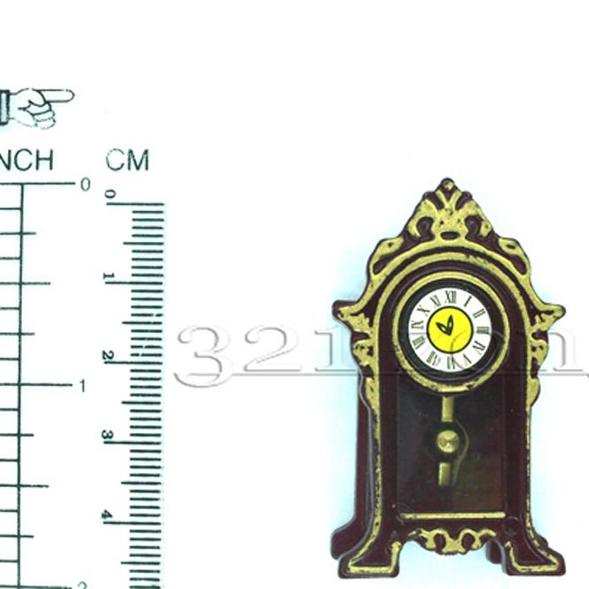 Puppenhaus Puppenstube Uhr Pendeluhr 1:12 Miniaturen Zubehör 1zu12 Miniatur Uhr