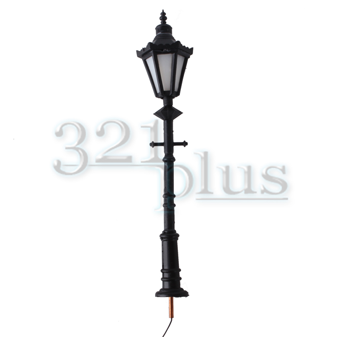 10Pcs O Scale Model Railway LED Lamppost Lamps Antique Street Lights 1:50 Toy