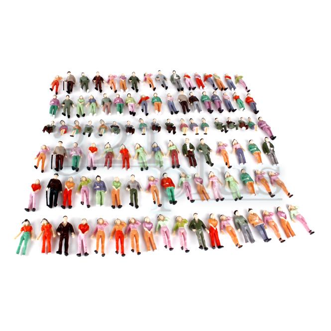 100 STÜCKE Gebäude Layout Modell Menschen Zug 1:50 HO Gemalte Figur Passagier SA