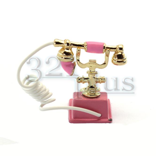 Masstab 1:12 Miniatur Telefon Puppenhaus Wohnzimmer Deko