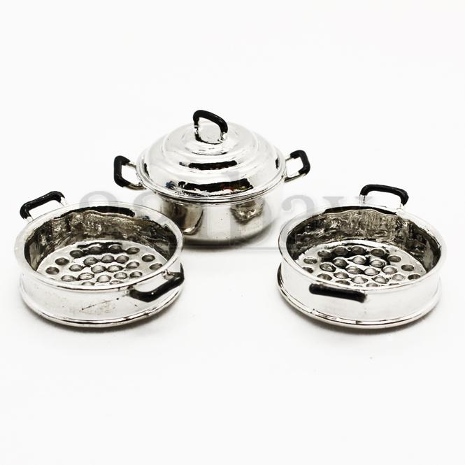 Miniatur kuchen set puppenhaus topf set dampfgarer dunster for Puppenhaus küche
