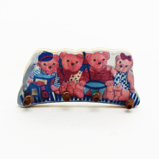 puppenhaus regal teddy kleiderhaken puppenhaus m bel kleiderb gel aus holz ebay. Black Bedroom Furniture Sets. Home Design Ideas