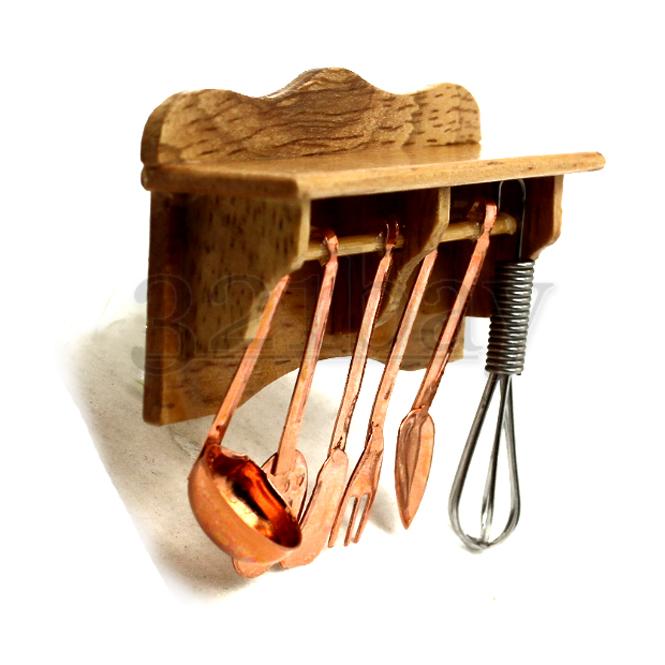 puppenhaus regal miniatur hobby k che k chenhelfer k chenregal wandregal 1zu12 ebay. Black Bedroom Furniture Sets. Home Design Ideas