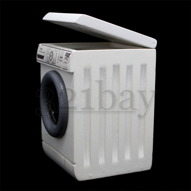 1:12 Miniature Washing Machine Metal Home Appliance Bathroom Furniture Dollhouse