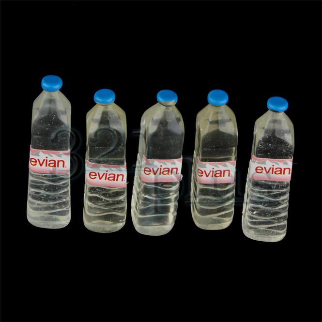 5 stk wasser miniatur flaschen kaufladen lebensmittel wasserflaschen getr nke ebay. Black Bedroom Furniture Sets. Home Design Ideas