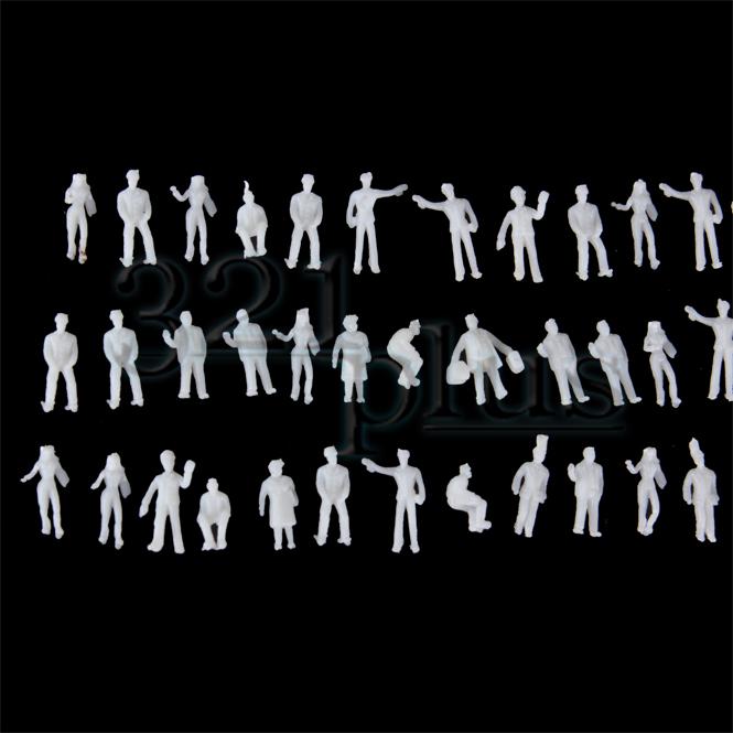 100 x Modell Stehende Sitzende Figuren Menschen Handbemalt 1:150 Spur N